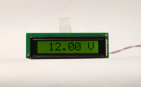 [the configurable DVM module showing 12V]
